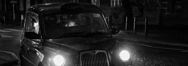 black cab in Marylebone image of