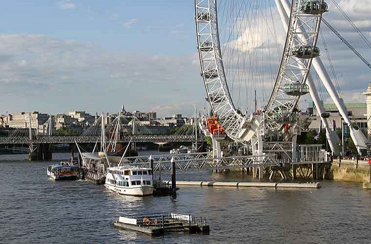 the london eye and the south bank image of
